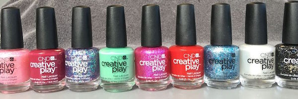 CND Creative Play Colors lined up in a row
