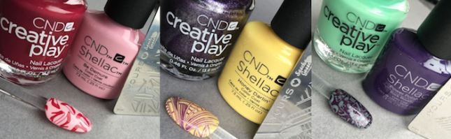 Creative Play stamping nail art with SHELLAC