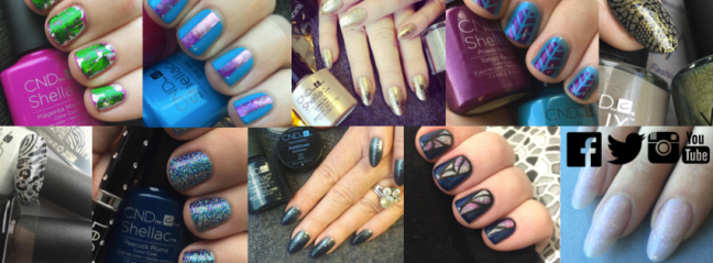 Fee Wallace nail picture collage