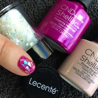 SHELLAC Magenta Mischief with Lecente Crushed Ice