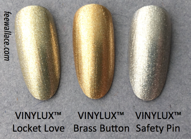 VINYLUX comparison Brass Button from CND Craft Culture by Fee Wallace