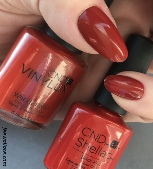 shellac and vinylux colour brick knit from the cnd craft culture collection by fee wallace