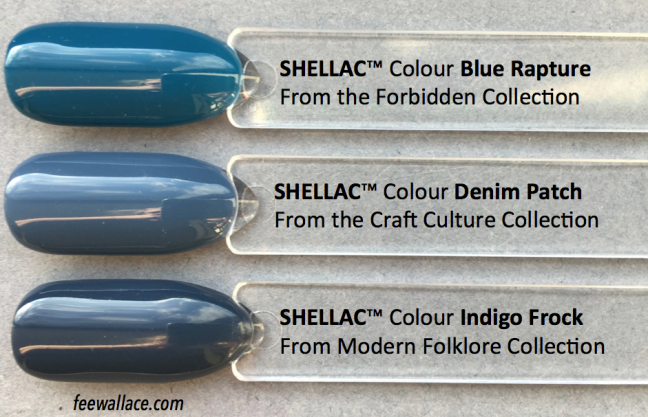 denim patch shellac compared to other colours by fee wallace