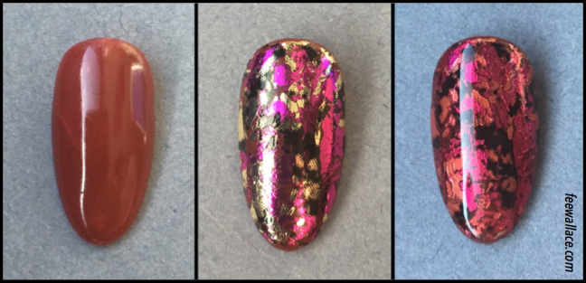 step by step foil lamination shellac nail art foil sandwich by fee wallace