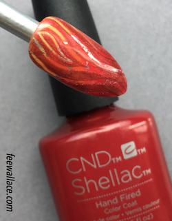 flame nail art with cnd shellac hand fired from craft culture collection by fee wallace
