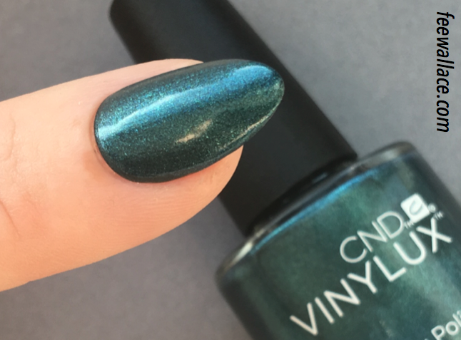 close up picture of vinylux polish fern flannel from cnd craft culture by fee wallace