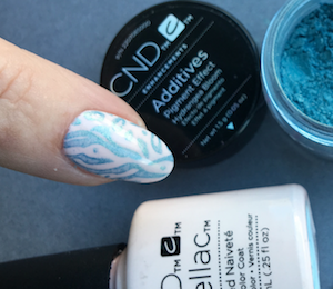 cnd additives stamping over shellac naked naiveté by fee wallace
