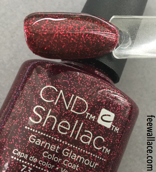 shellac garnet glamour from cnd starstruck collection close up pic by fee wallace