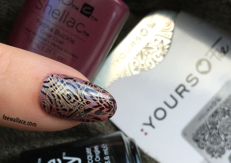 Shellac nail art fee wallace online yours loves fee stamping over shellac with cnd creative play mindful mandala plate prinsesfo Image collections