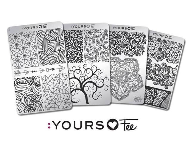 collection of 4 stamping plates yours loves fee designed by fee wallace