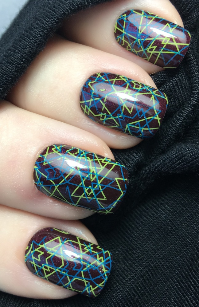 shellac dark lava with stamping nail art yours loves fee by fee wallace
