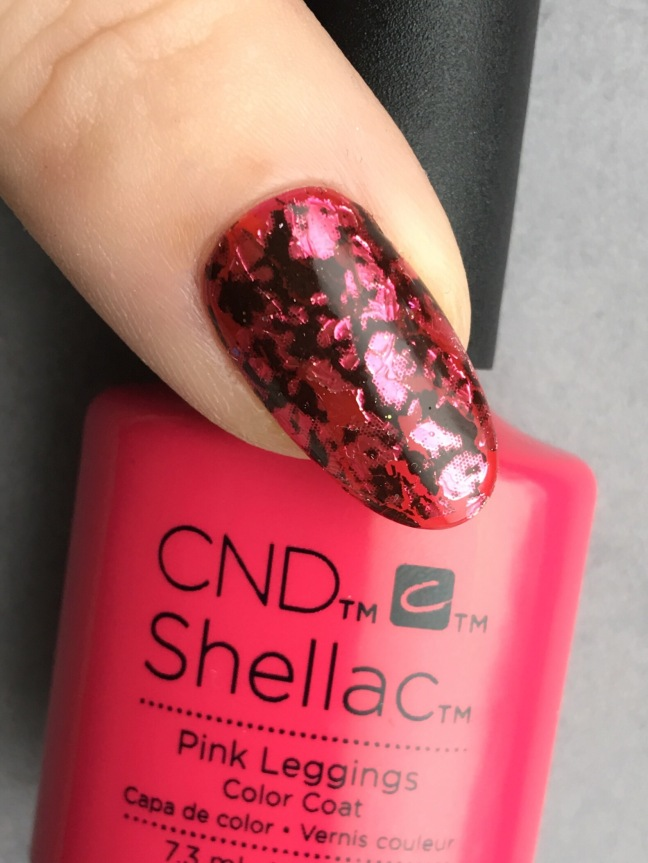 pink leggings shellac foil sandwich with license foil by fee wallace