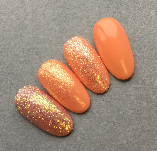 Shellac Shells in the Sand with Lecente Glitters and Stardusts by Fee wallace