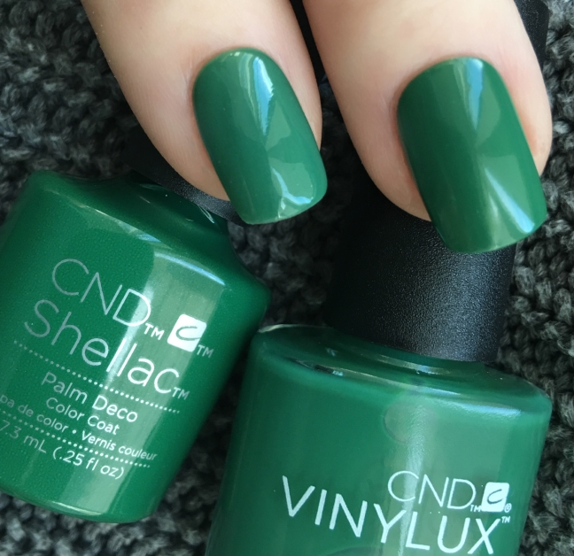 Shellac Palm Deco in Shellac and Vinylux photographed by Fee Wallace