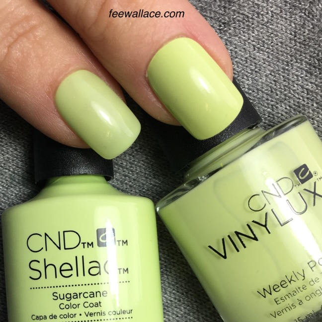 Shellac and Vinylux Sugarcane color by Fee Wallace