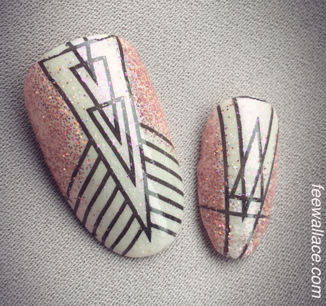 art deco stamping nail art by fee wallace