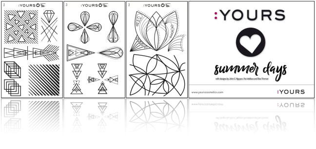 Yours Loves Fee Stamping plates designed by Fee Wallace