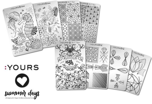 Yours Stamping Plates Summer Days collection of 8 on Fee Wallace blog