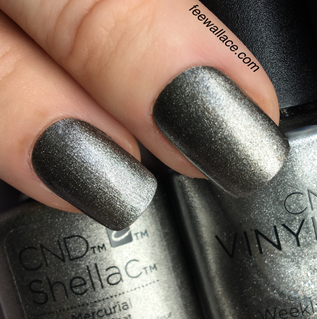 CND Shellac and Vinylux color Mercurial by Fee Wallace