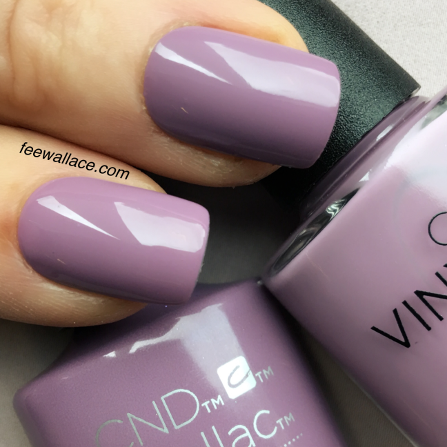 shellac and vinylux lilac eclipse nail color by fee wallace