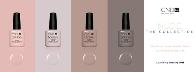 CND Nude collection colors in Fee Wallace blog