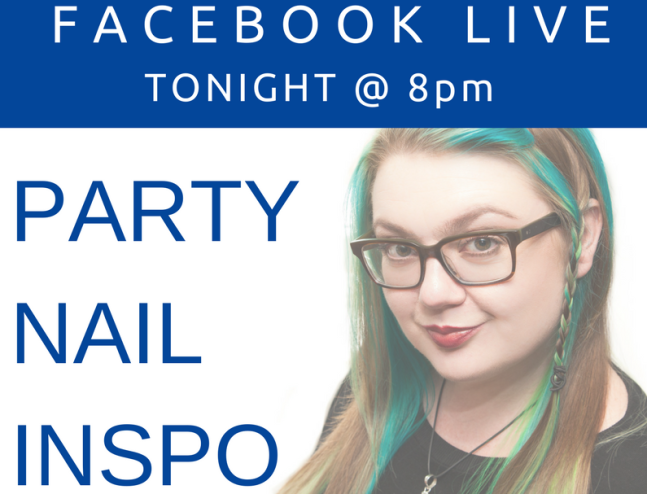 Fee Wallace banner image for party nails facebook live blog