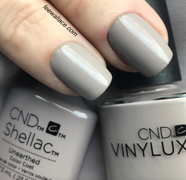 shellac and Vinylux Unearthed from CND NUDE Collection by Fee Wallace