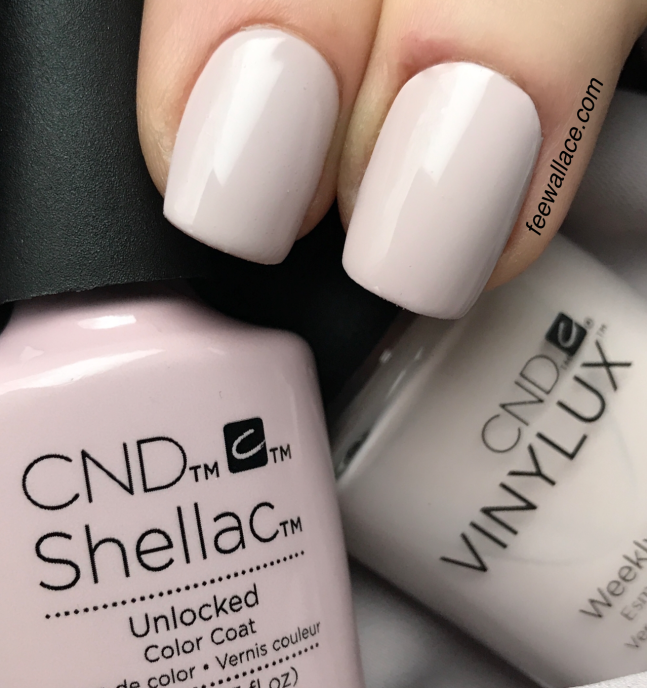 unlocked shellac and vinylux from cnd nude collection by fee wallace