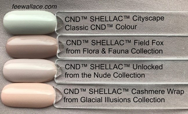 shellac color comparison unlocked nude collection CND by Fee Wallace