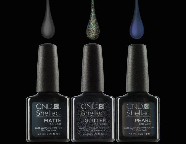 CND Shellac Alluring Top Coat trilogy on Fee Wallace blog
