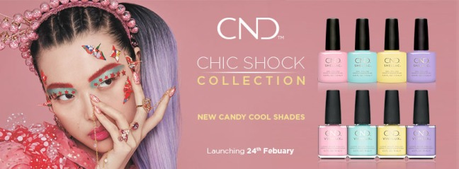 banner image for CND Chic Shock collection shellac & vinylux fee wallace