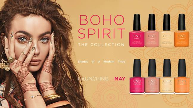 Fee Wallace Nails Blog Boho Spirit CND Collection banner image shellac and vinylux colors