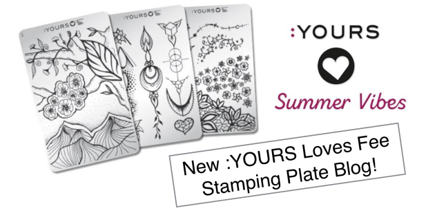 fee wallace blog on new stamping plates from the :YOURS summer vibes collection