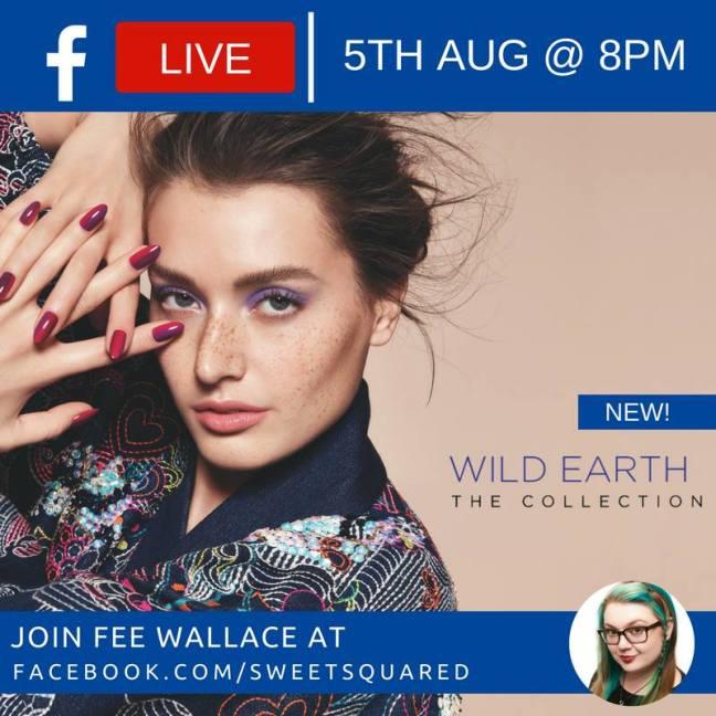 fee wallace facebook live for cnd wild earth collection