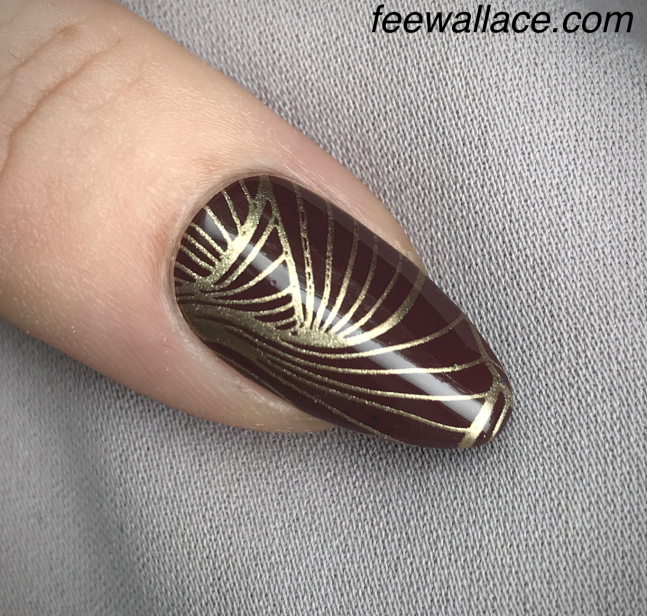 CND Shellac Arrowhead nail art stamping :YOURS by fee wallace