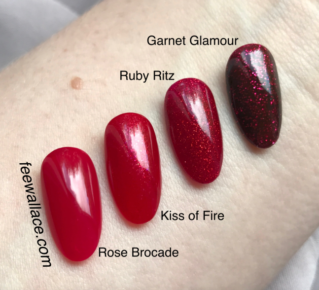 kiss of fire nail color CND shellac and vinylux from night moves collection swatch by fee wallace