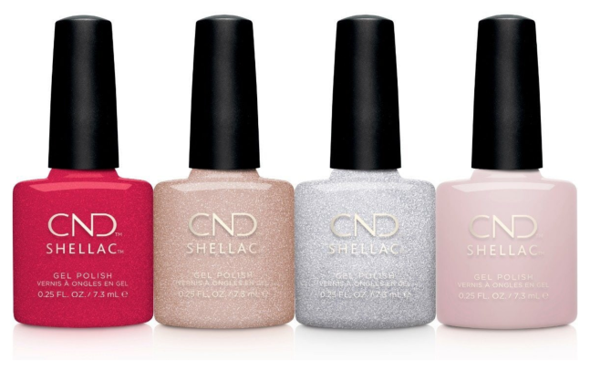 CND Shellac Night Moves bottles line up