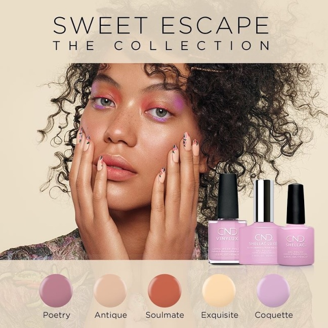 fee wallace blog for CND Sweet Escape collection