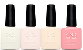 CND Shellac bridal nude colors from the Yes, I do collection on fee wallace blog