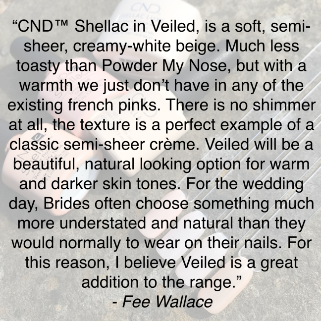description of shellac veiled cnd yes, i do the collection on fee wallace blog