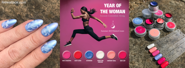 banner for fee wallace blog with light elegance year of the woman collection buttercream gel