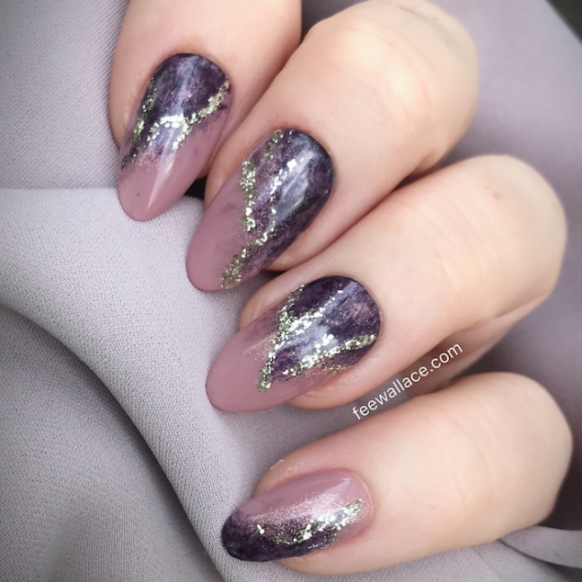 light elegance nail art with mantra mauve buttercream by fee wallace