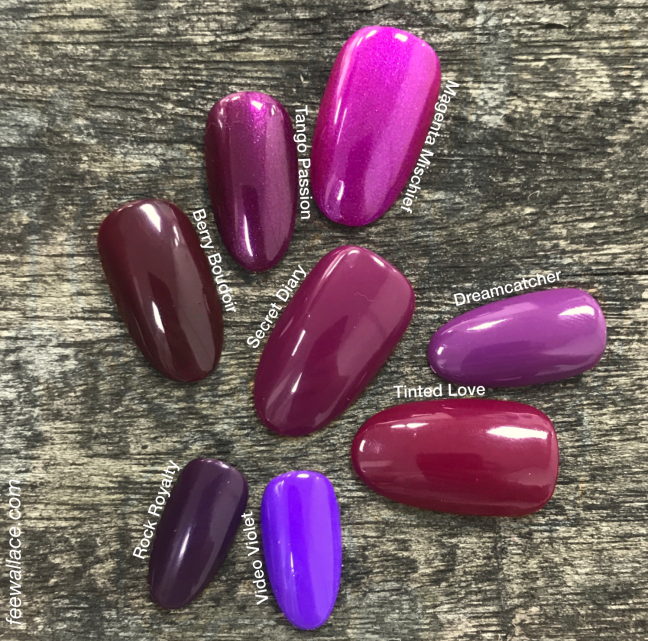 shellac secret diary swatch comparison by fee wallace