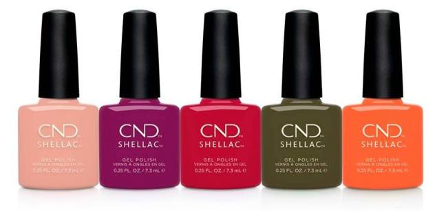 cnd shellac colours from treasured moments collection on fee wallace blog