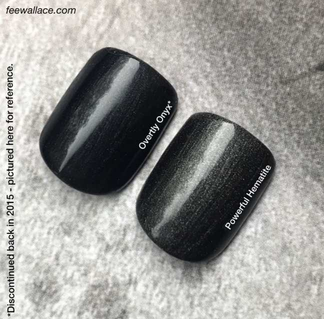 comparison of shellac powerful hematite and overtly onyx by fee wallace