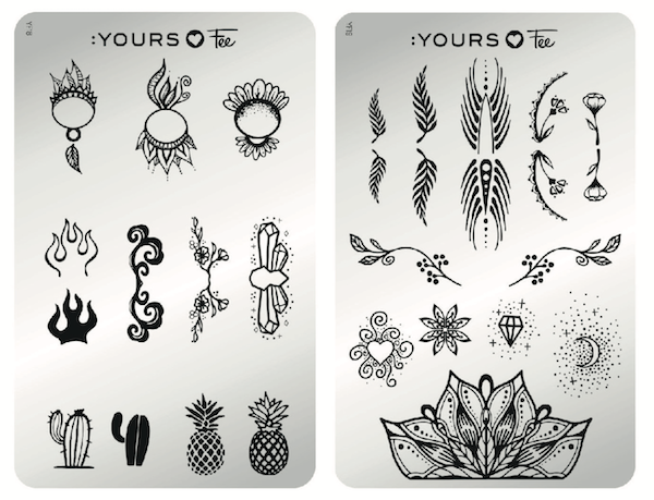 yours loves fee stamping plates designed by fee wallace for stamping nail art