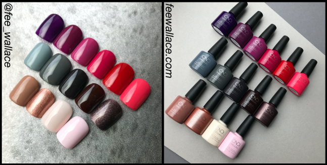 fee wallace cnd shellac colours luxe exclusive collection of 15